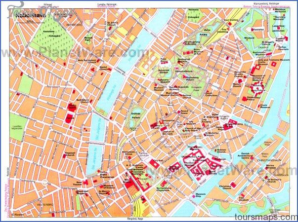 copenhagen map Denmark Map Tourist Attractions