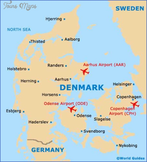 denmark country map Denmark Map Tourist Attractions