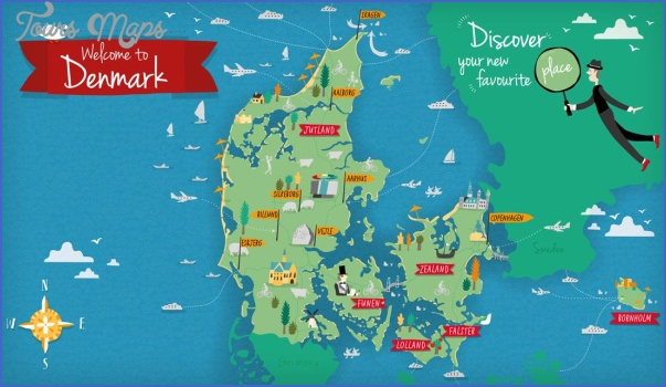 discover denmark map Denmark Map Tourist Attractions