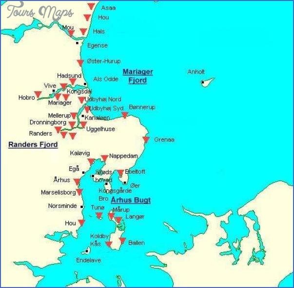 east jutland map Arhus Denmark Central Jutland Map