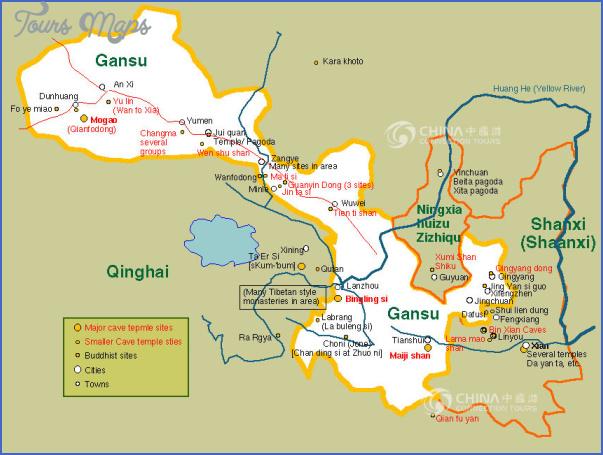 gansu tourist map Insight travel map China