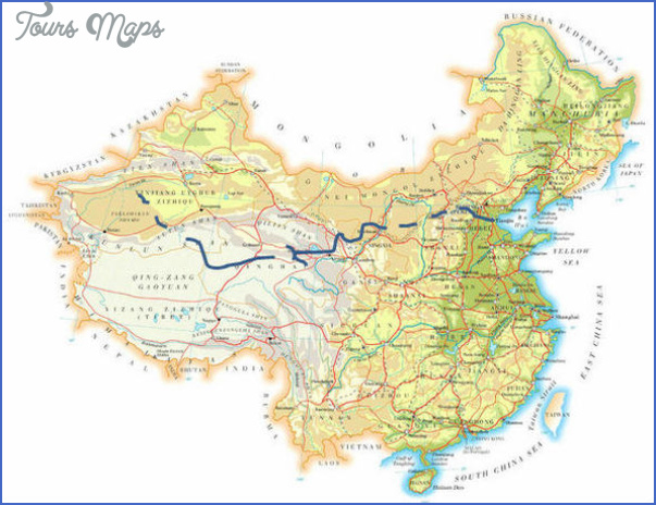 great wall china map 0 Great Wall China Map