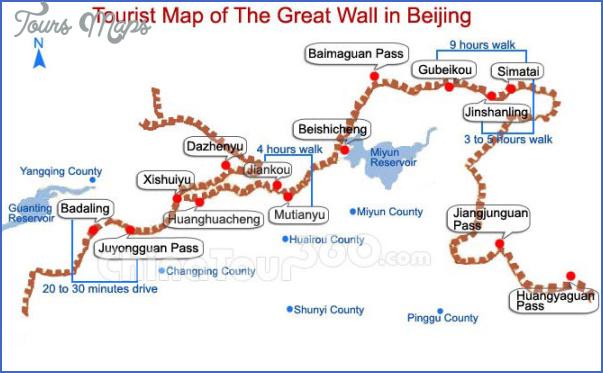great wall china map 1 Great Wall China Map