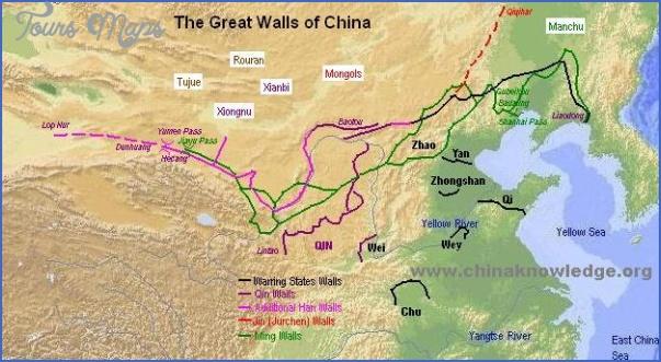 great wall china map 4 Great Wall China Map