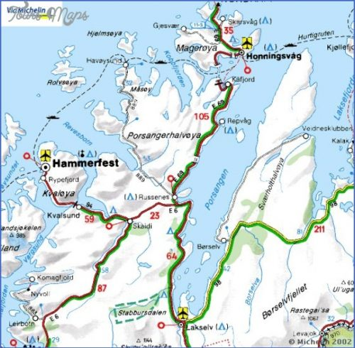 Hammerfest Norway Days And Nights Archives Map Travel - Norway map hammerfest