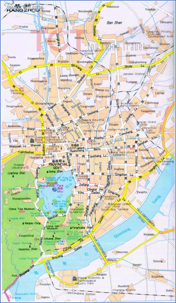 hangzhou map 13 Hangzhou Map