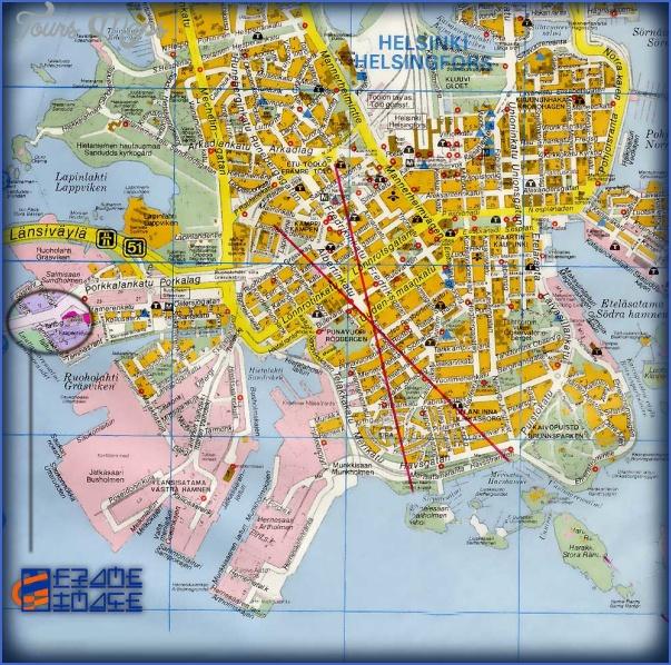 helsinki finland tourist map 2 Helsinki Map