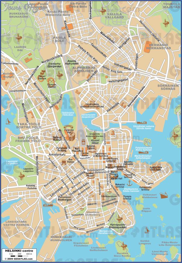 Helsinki Map ToursMapscom