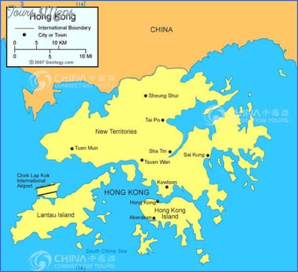 hong kong map Insight travel map China