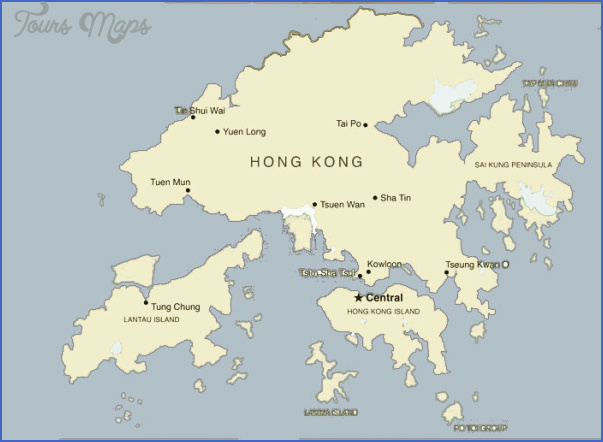 hong kong map 1 Hong Kong Map
