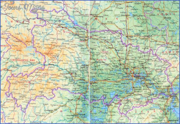 hubei map 1 Hubei  Map