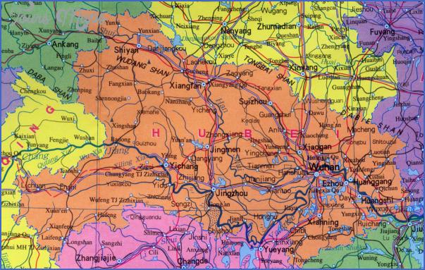 hubei map 10 Hubei  Map