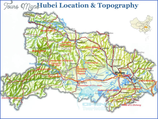 hubei topographic map China Topography