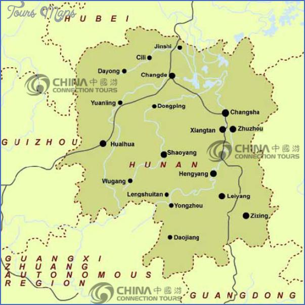 hunan province map Insight travel map China
