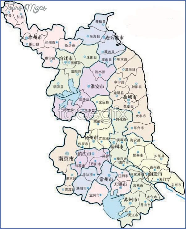 jiangsu map 6 Jiangsu Map