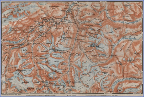 jotunheim norway map 1 Jotunheim Norway Map