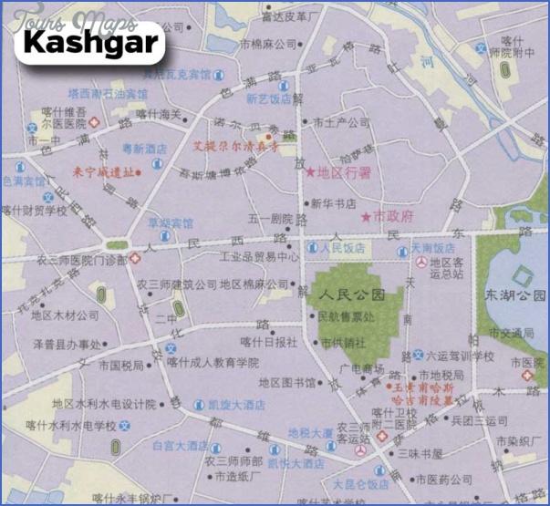 kashgar map 12 Kashgar Map