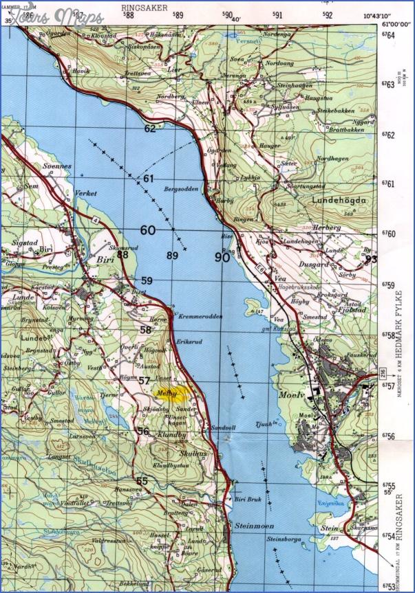 lake mjosa norway map 16 Lake Mjosa Norway Map