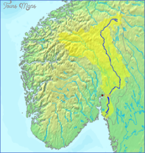 Lake Mjosa Norway Map Map Travel Holiday Vacations - Norway lakes map