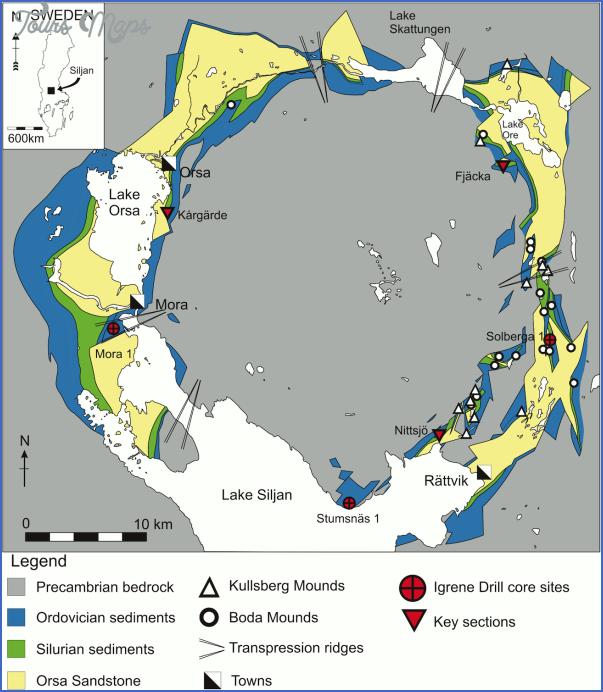 lake siljan sweden map 5 Lake Siljan Sweden Map