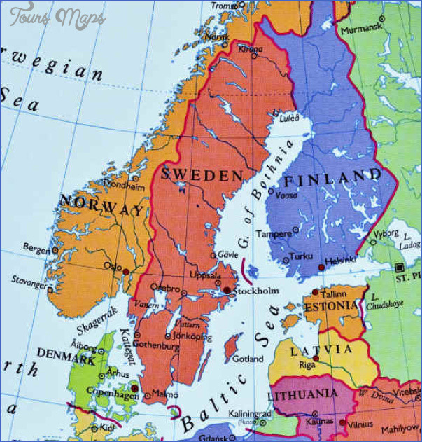 Lake Vanern Sweden Map Map Travel Holiday Vacations - Sweden map 1800
