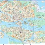 large detailed road map of stockholm city center with buildings 150x150 Stockholm Map