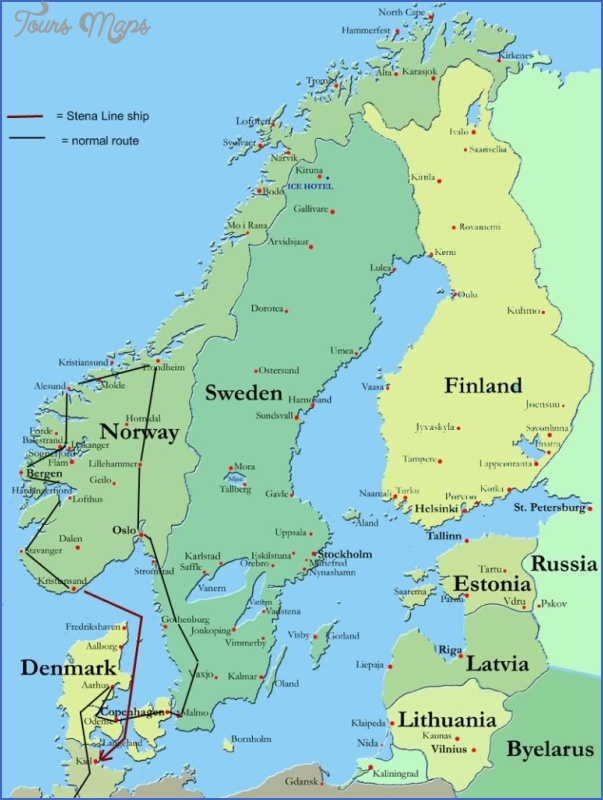 Lillehammer Norway Map Map Travel Holiday Vacations - Norway map kristiansund