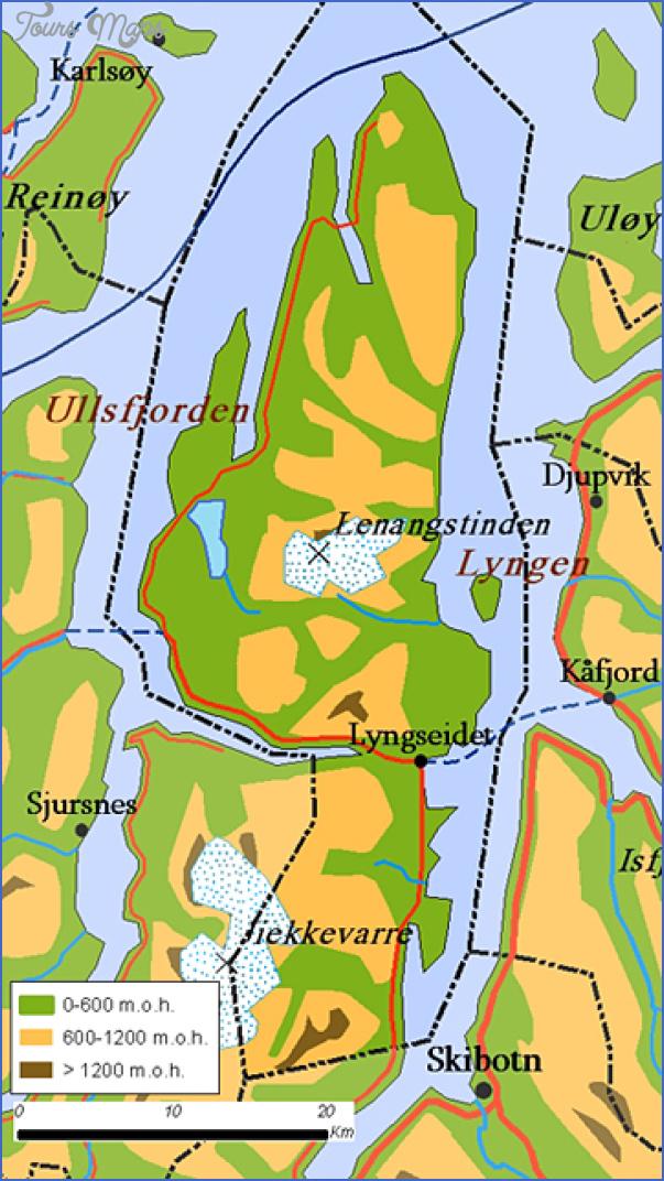lyngenfjord norway map 3 Lyngenfjord Norway Map