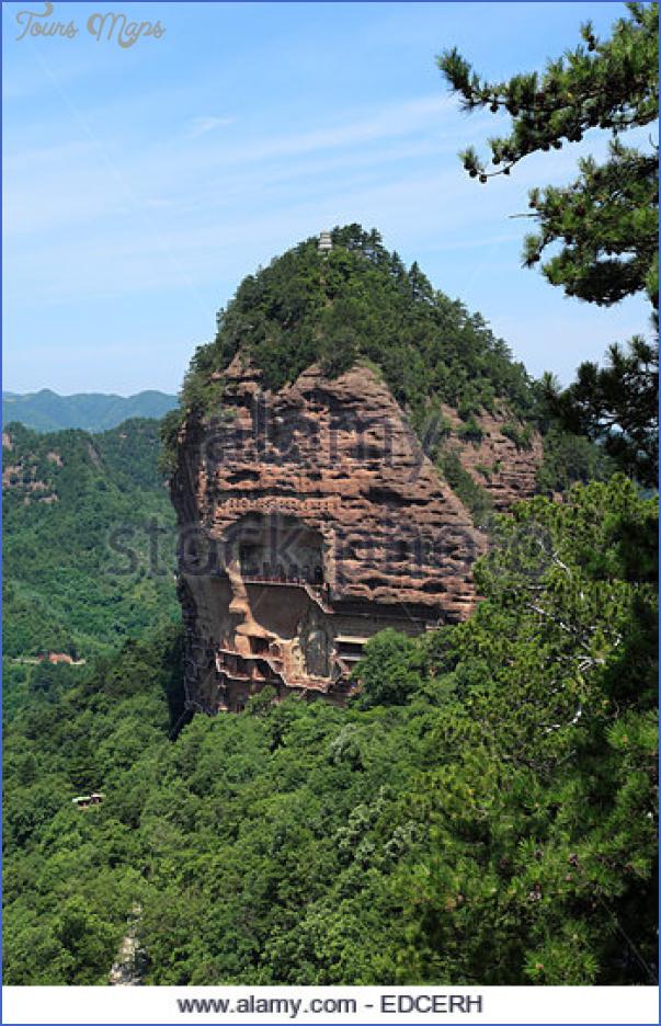maijishan grottoes tianshui gansu japan edcerh Grottoes of Maijishan Maijishan Shiku