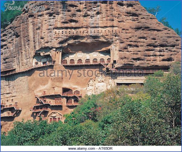 maijishan shiku tianshui suburbs gansu china at65dr Grottoes of Maijishan Maijishan Shiku