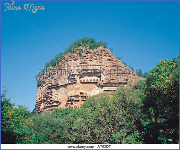 maijishan shiku tianshui suburbs gansu china at65dt Grottoes of Maijishan Maijishan Shiku