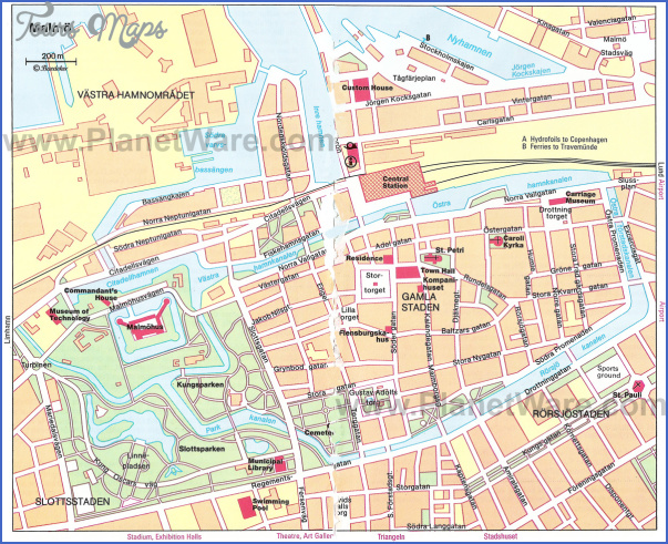 malmo map Sweden Map Tourist Attractions