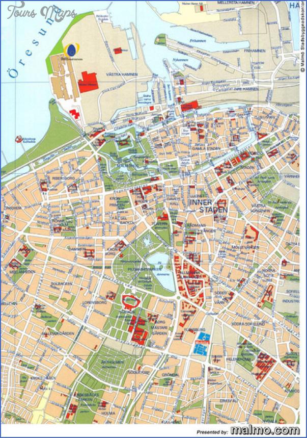 Malmo Sweden Map Toursmaps Com