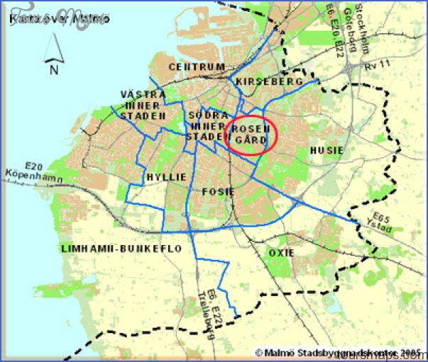 Malmo Sweden Map Map Travel Holiday Vacations - Sweden map towns