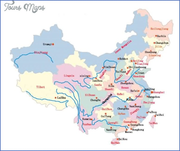map1 China travel guide map