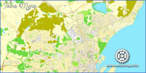 map aarhus denmark citiplan 3mx3m ai 6 Arhus Denmark Central Jutland Map