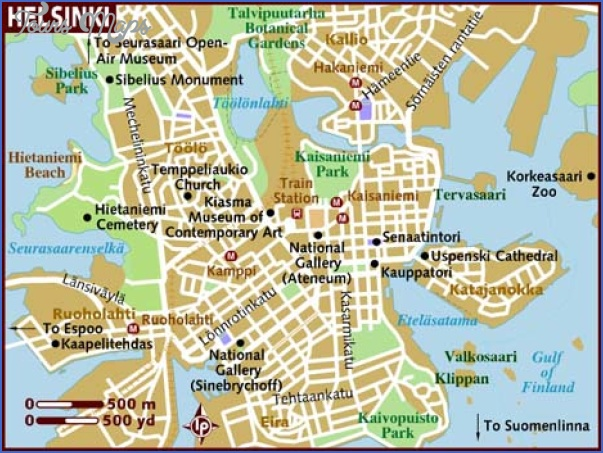 map of helsinki Helsinki Map