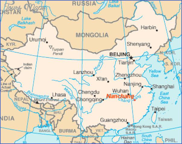 nanchang location Nanchang Map