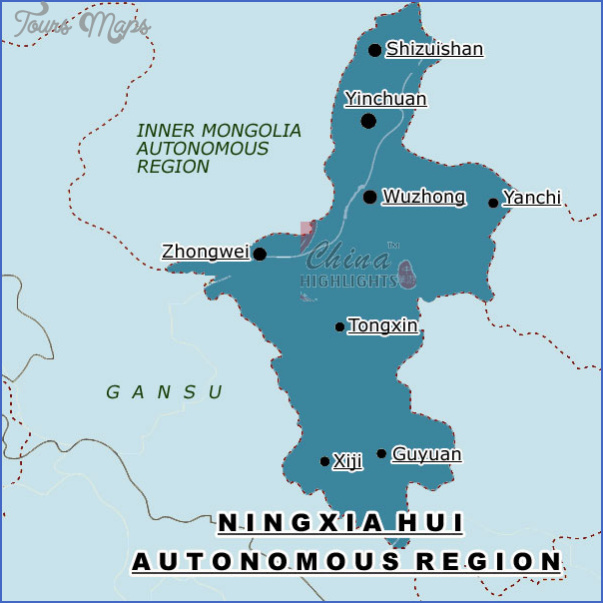 ningxia map 1 Ningxia Map