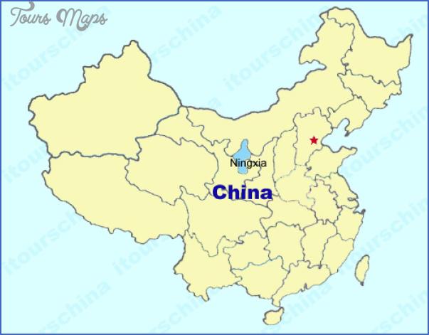 ningxia map 2 Ningxia Map