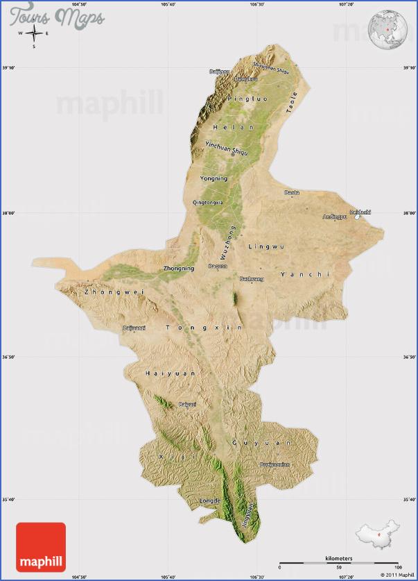 ningxia map 6 Ningxia Map