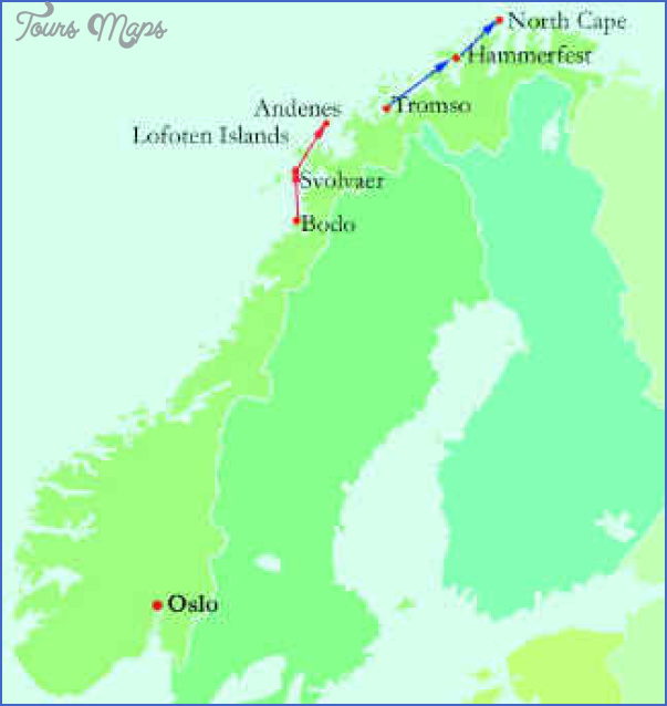 north cape norway map 0 North Cape Norway Map