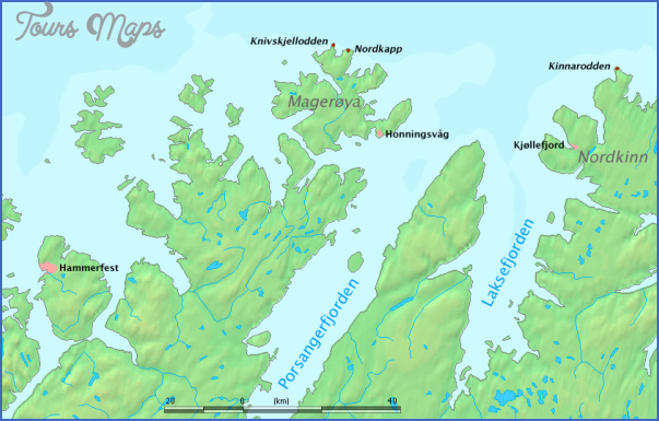 north cape norway map 2 North Cape Norway Map