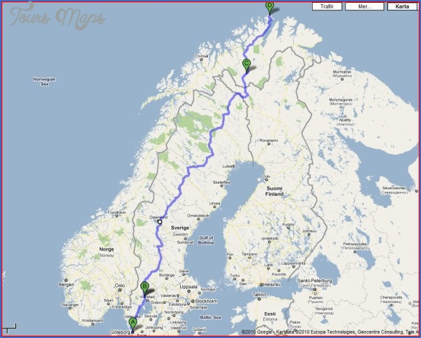 north cape norway map 7 North Cape Norway Map