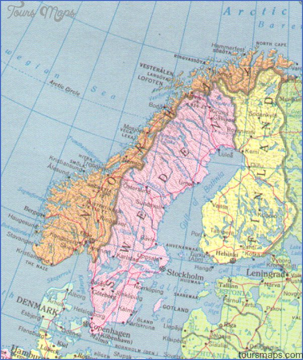 north cape norway map 9 North Cape Norway Map