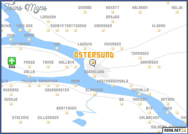 ostersund sweden map 3 Ostersund Sweden Map