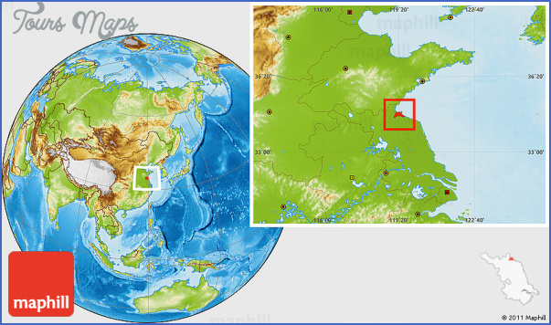 physical location map of lianyungang shi Lianyungang Map