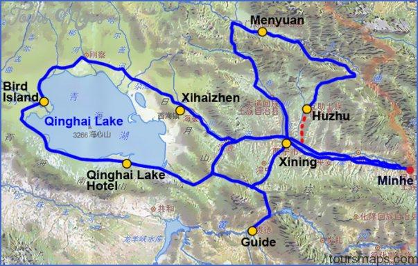 qinghai map 10 Qinghai Map