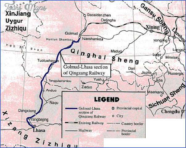 qinghai map 3 Qinghai Map