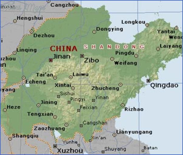 shandong map 7 Shandong Map